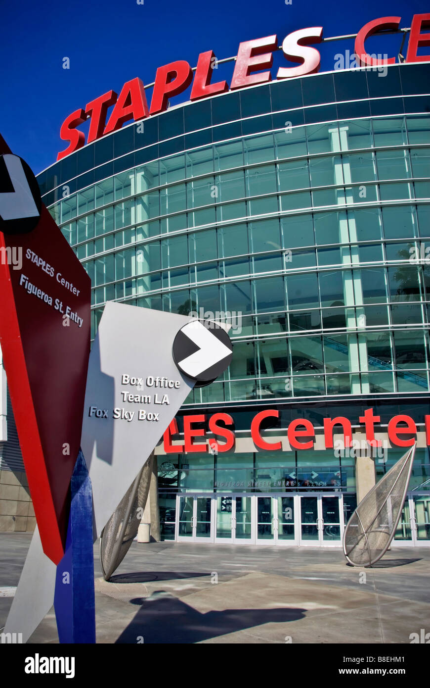 Staples Center multi-purpose sports arena Downtown Los Angeles, California - Stock Image