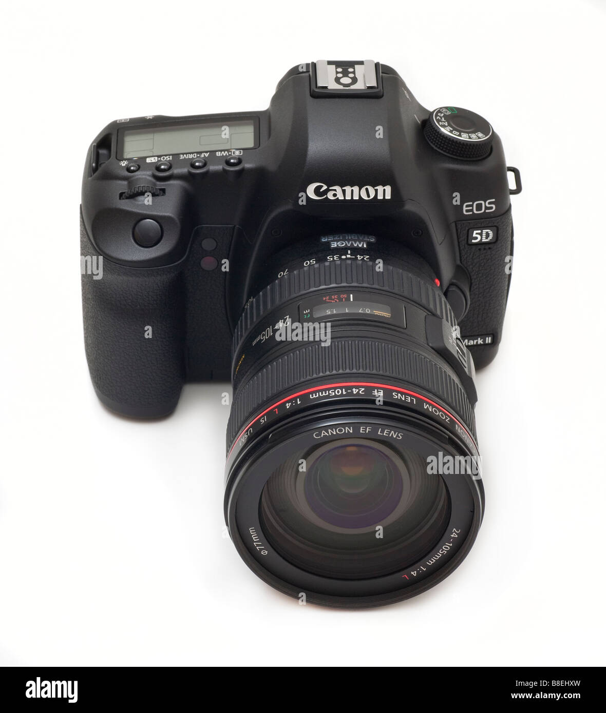 Canon 5d MkII digial SLR camera with 24-105mm L series zoom lens, 21mp CMOS sensor - Stock Image