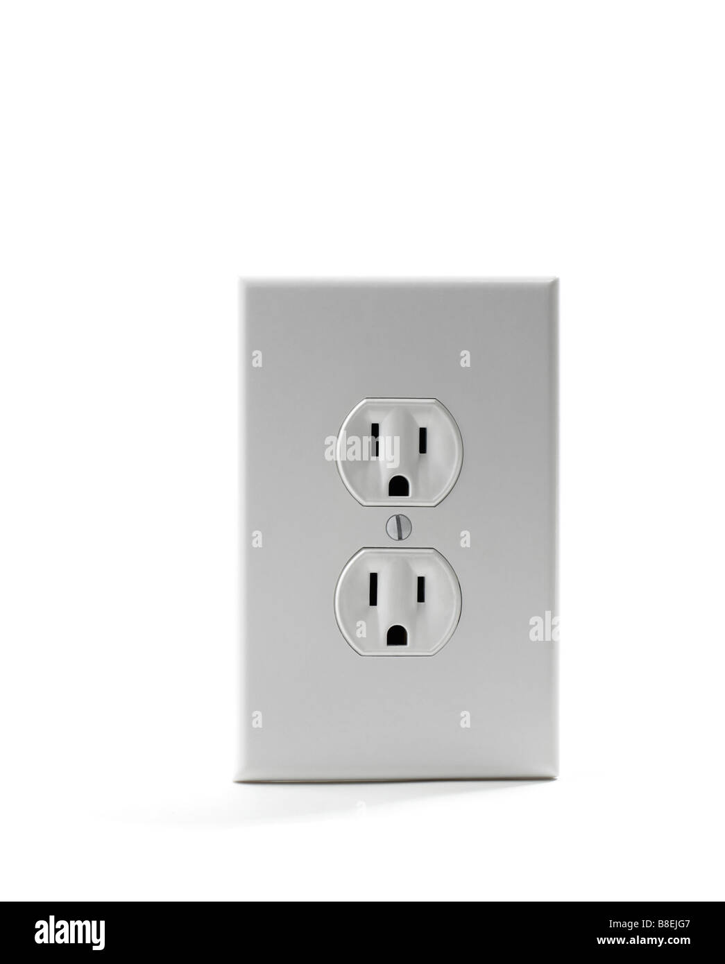 Electrical wall outlet - Stock Image