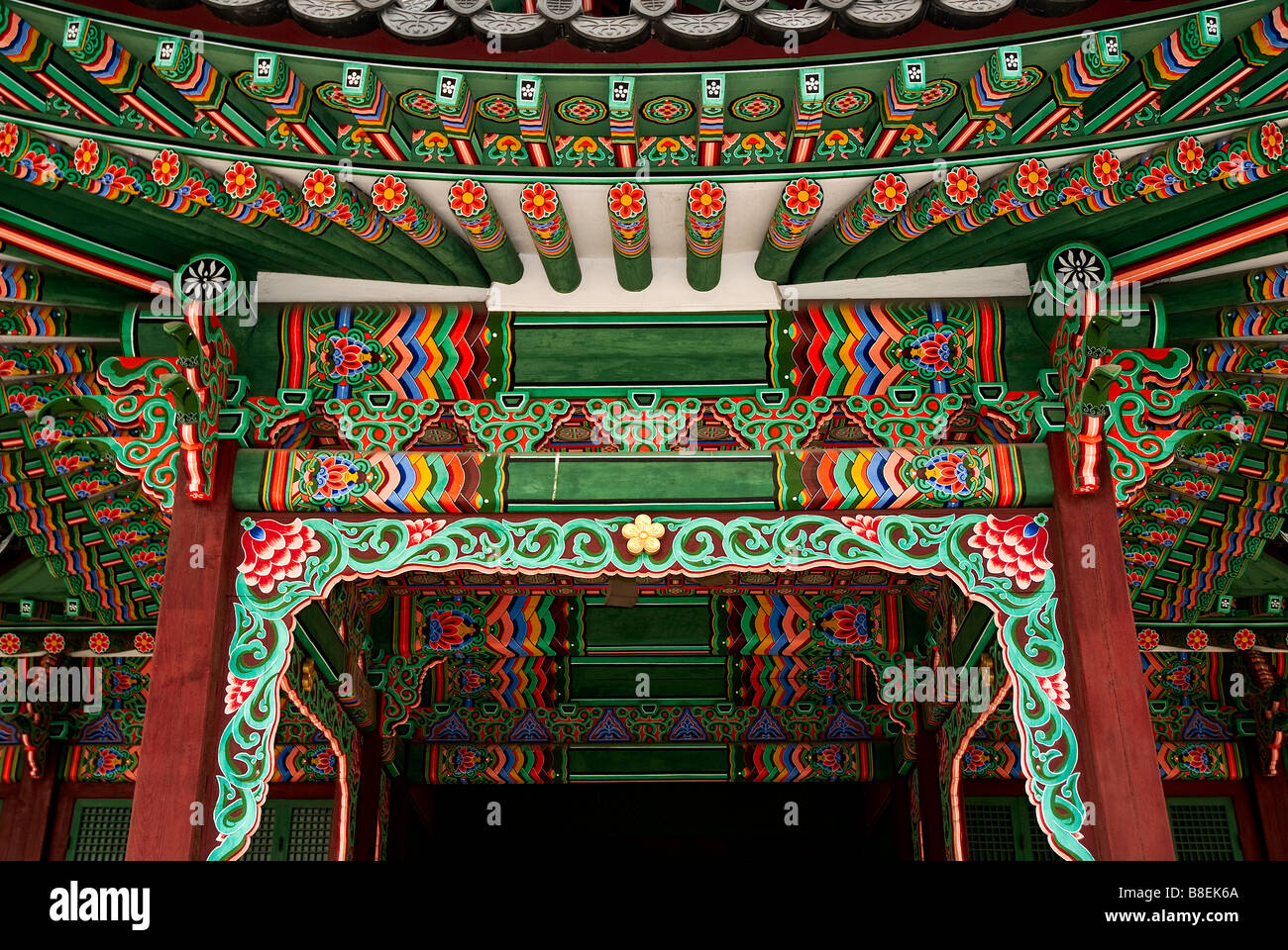 temple painting detail seoul south korea asia - Stock Image