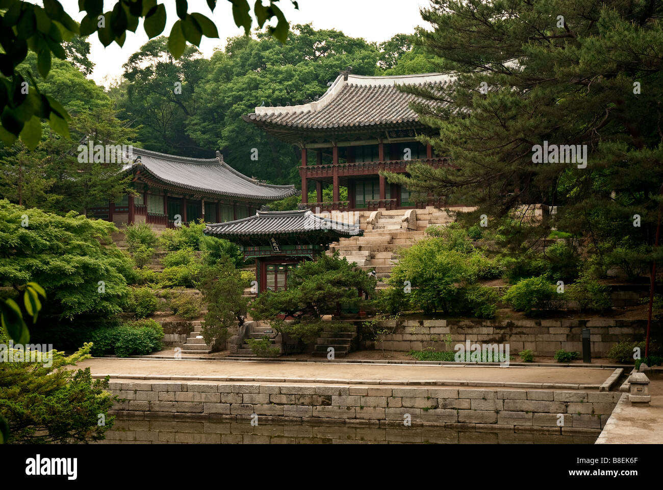 temple lake forest seoul south korea asia park Stock Photo: 22450023 ...