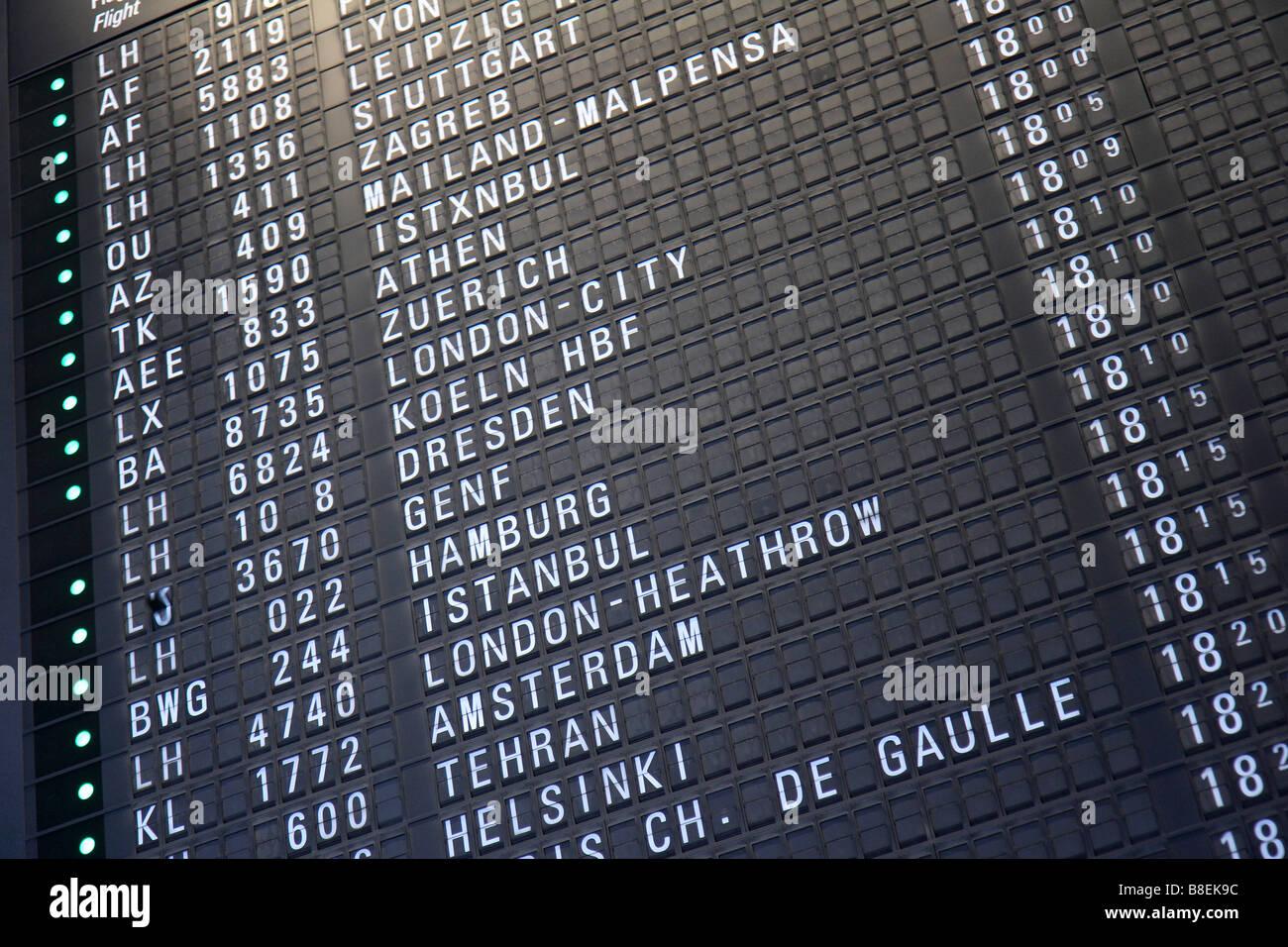 Ankunftszeiten Frankfurter Flughafen