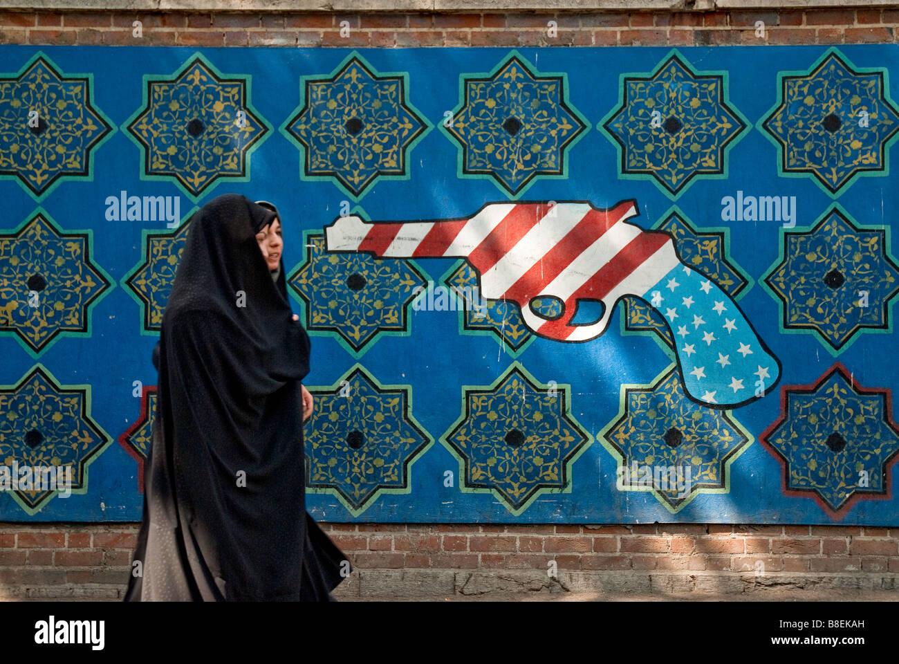 teheran extremist propaganda iran revolution jihad - Stock Image