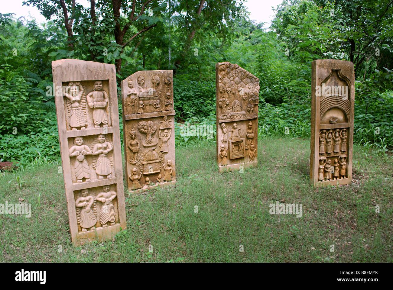 The Myth and Ritual of Ganaguar, Sirohi, Rajasthan, at Manav Sangrahalaya, Bhopal, MP, India - Stock Image