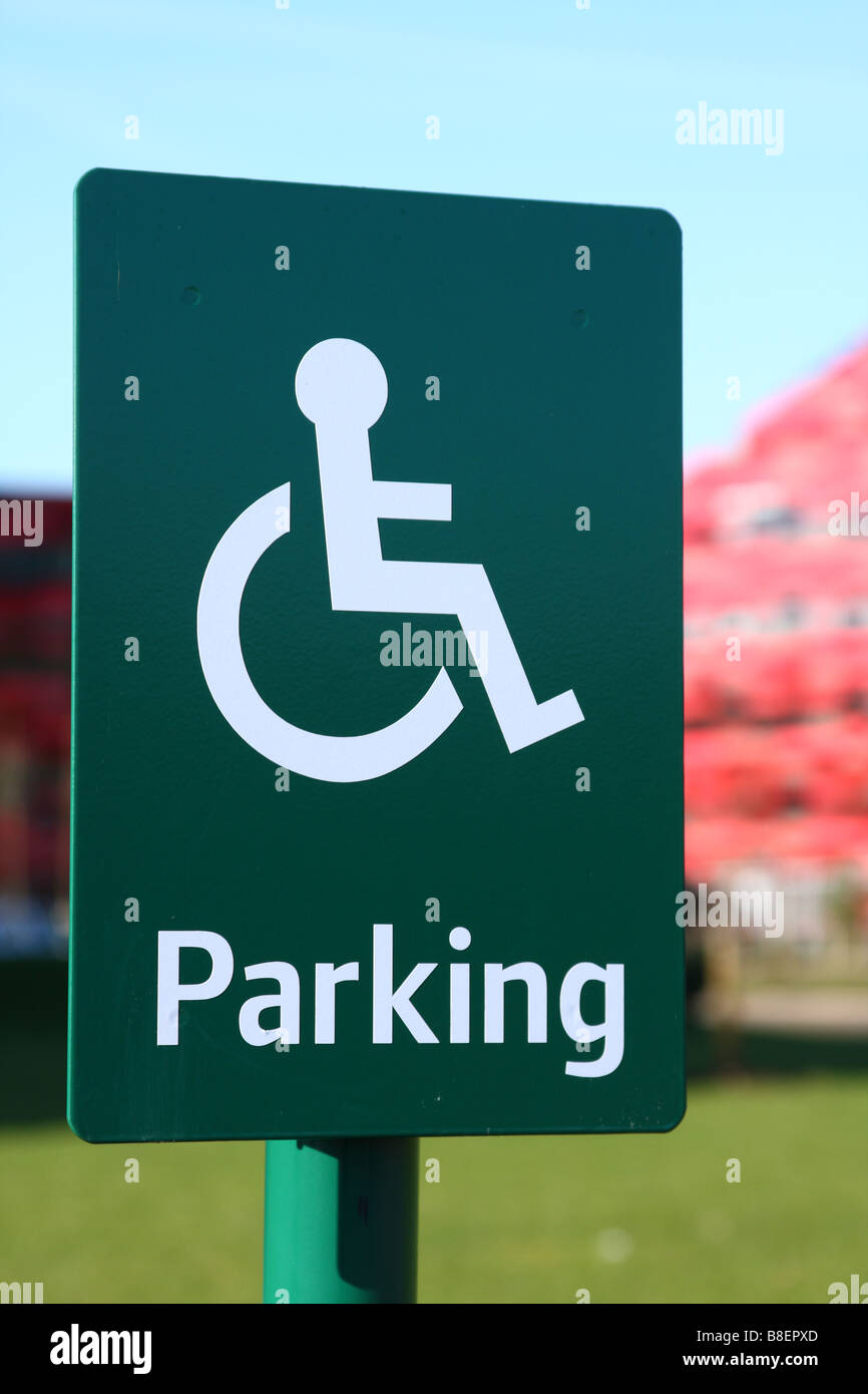 A disabled parking bay. - Stock Image