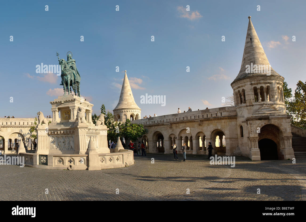 Budapest , Hungary . Fisherman's Bastion in Castle district - Stock Image
