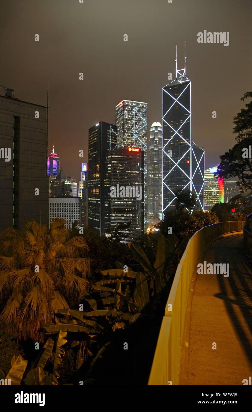 Bank of China in the Central District, Hong Kong, China - Stock Image