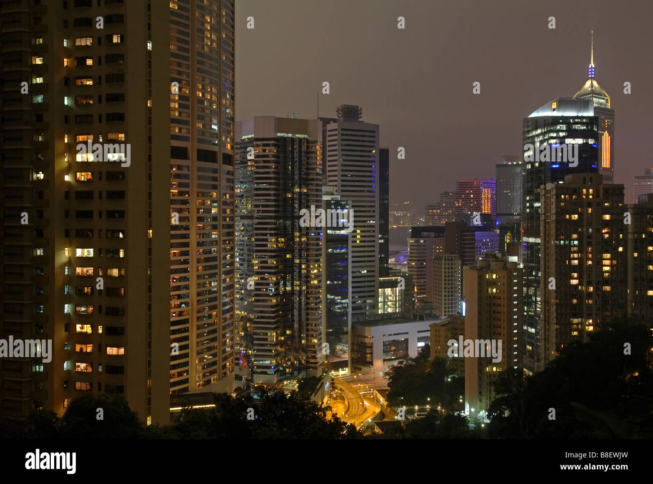 Central District in Hong Kong, China - Stock Image