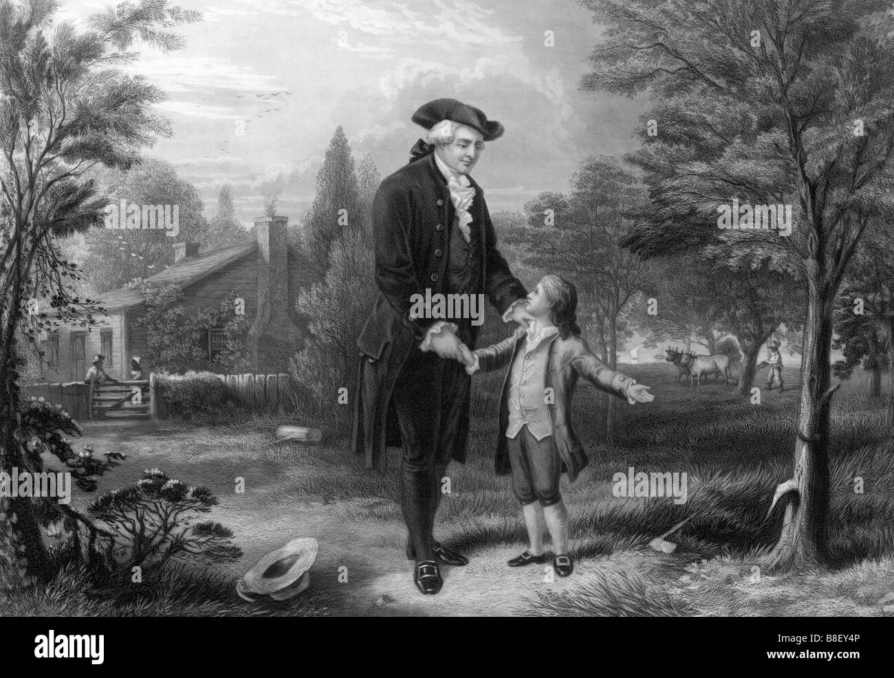 A young George Washington admits to cutting down the cherry ...
