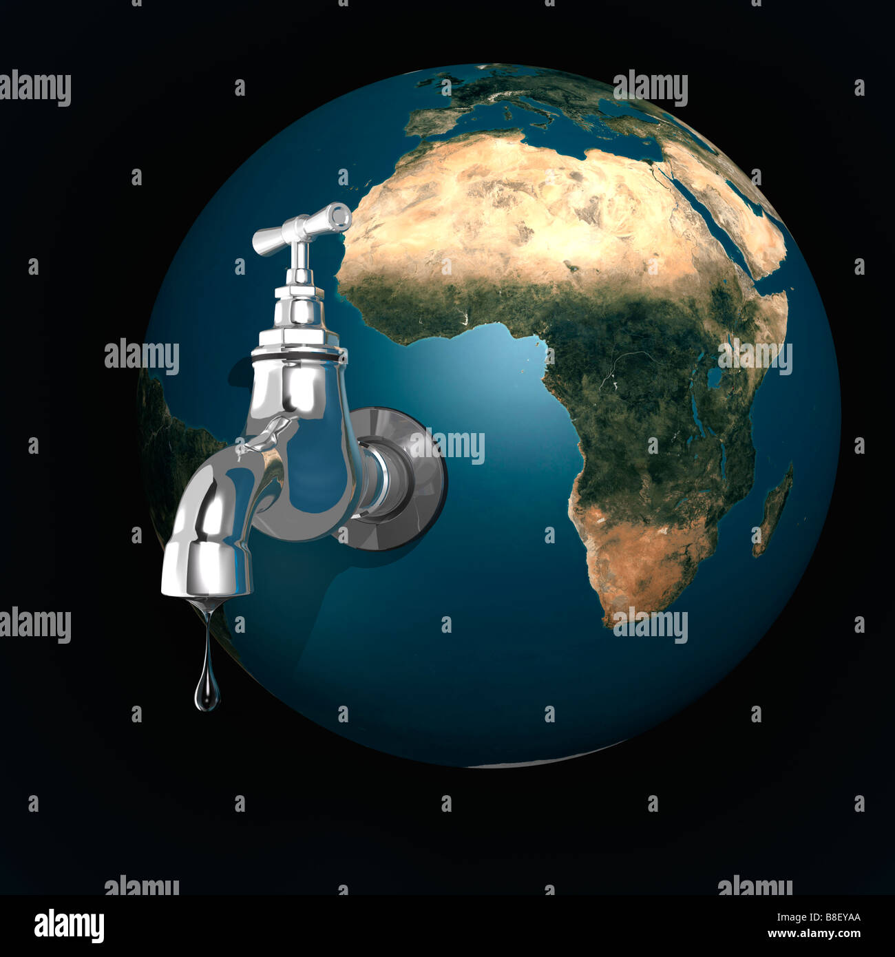 Water dripping from the Earth - Stock Image