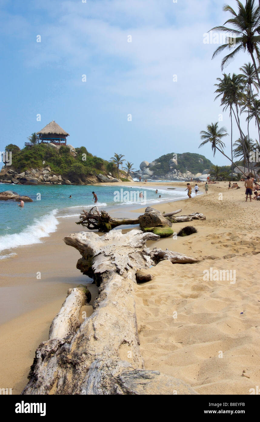 Cabo San Juan de Guia beach, Tayona Park, Colombia - Stock Image