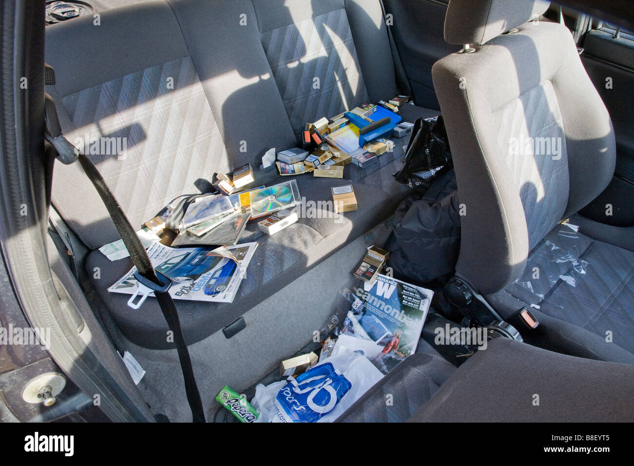 Messy Car High Resolution Stock Photography And Images Alamy