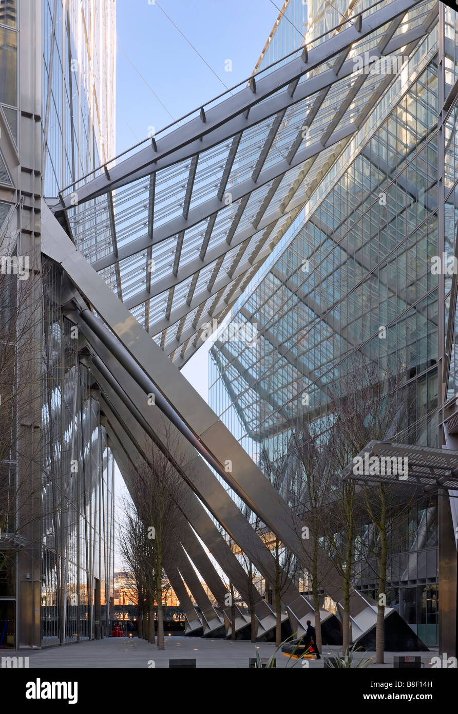 Broadgate Tower atrium or walkway - Stock Image