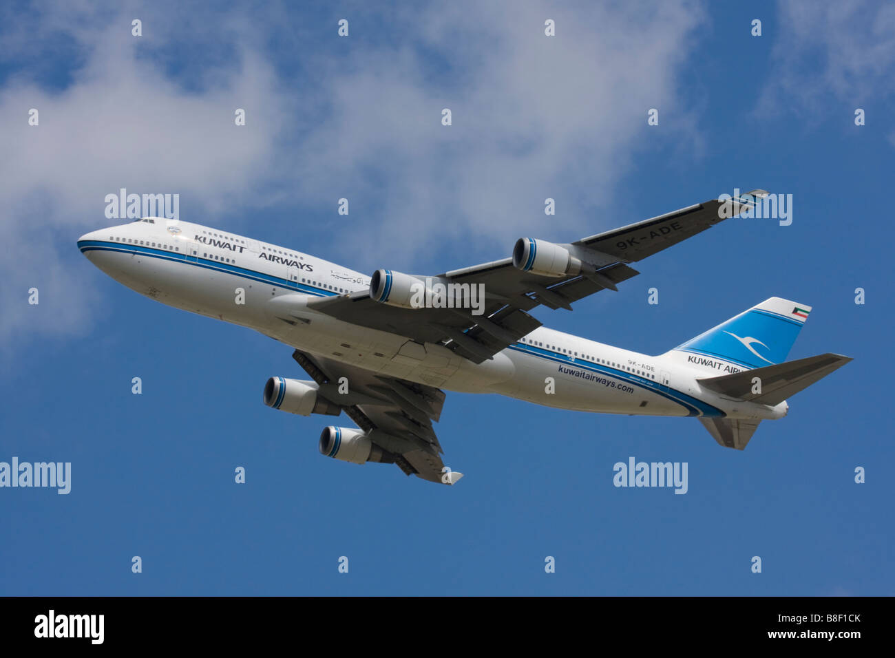 Kuwait Airways Boeing 747-469M departure at London Heathrow Airport, United Kingdom Stock Photo