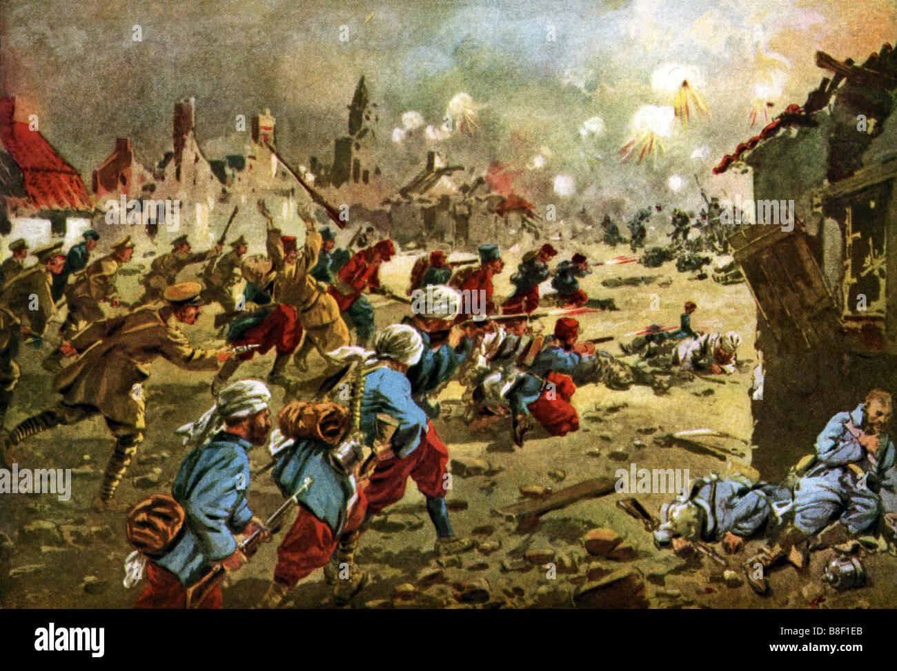 British at Neuve Chapelle - Stock Image