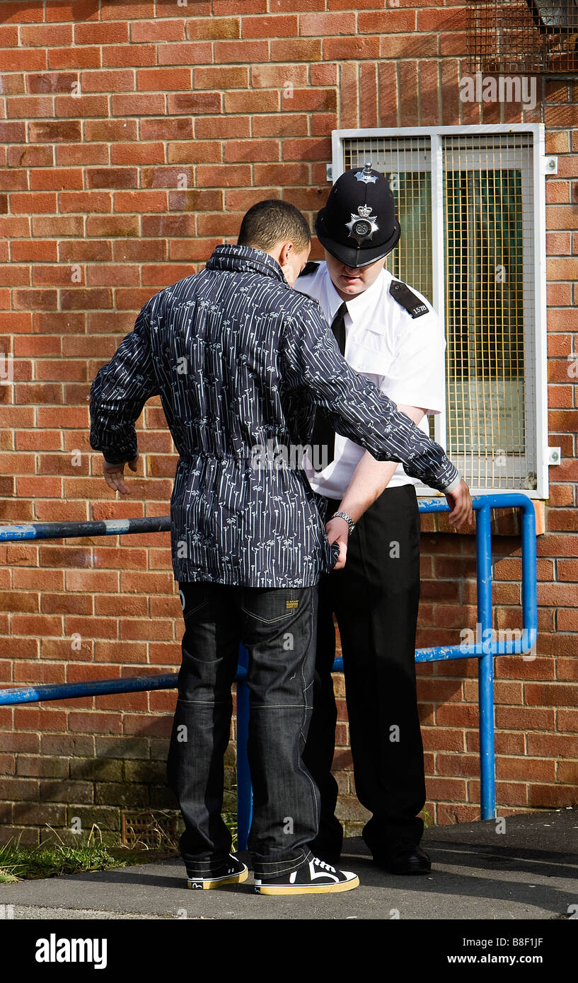 police stop and search check nottingham youth - Stock Image