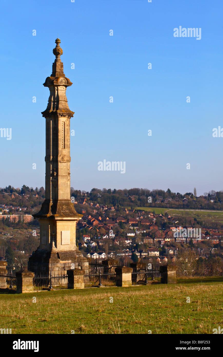 Disraeli monument, High Wycombe, Buckinghamshire, United Kingdom - Stock Image