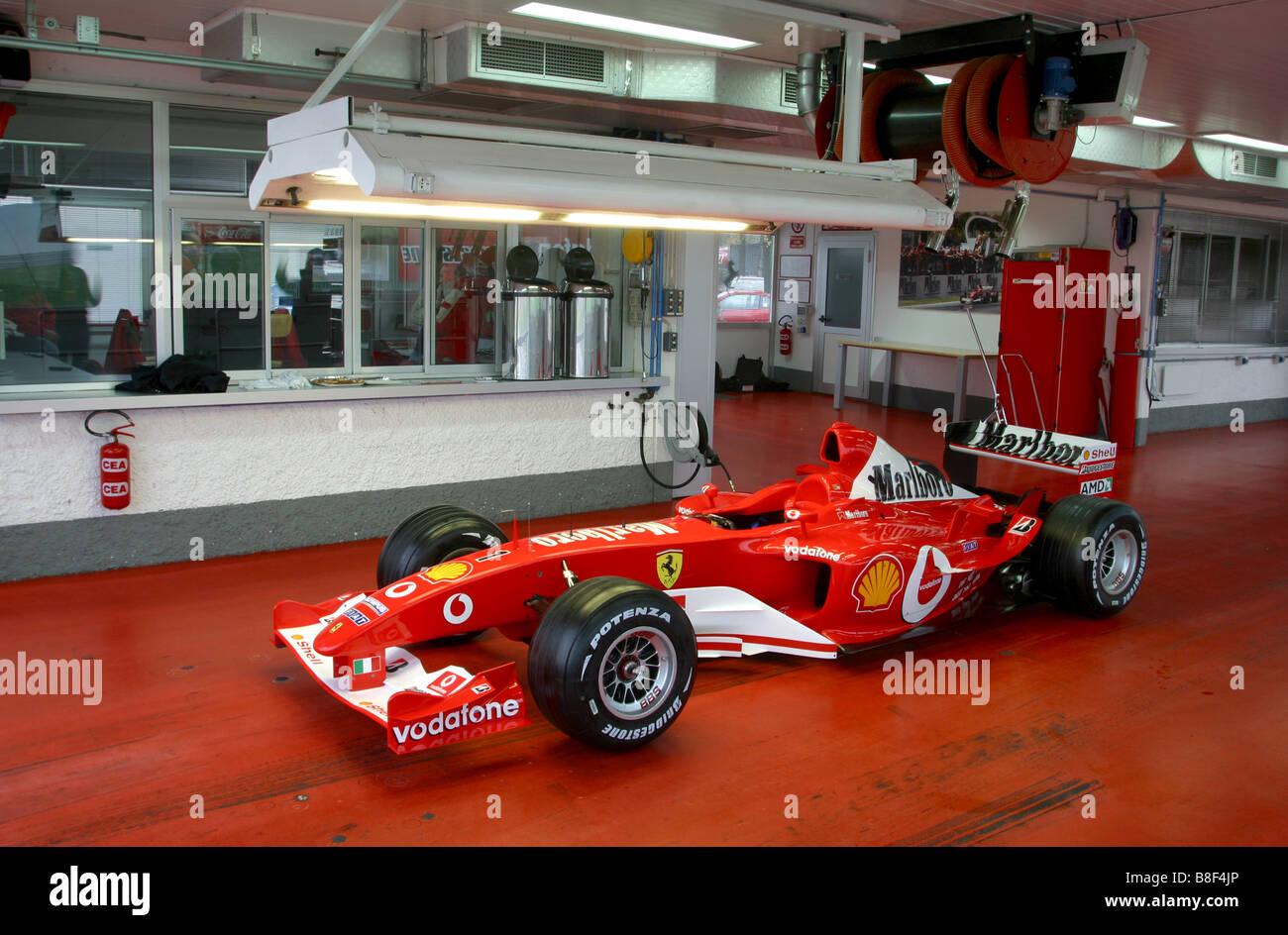 Schumacher S F1 Ferrari In The Fiorano Fire Station   Stock Image