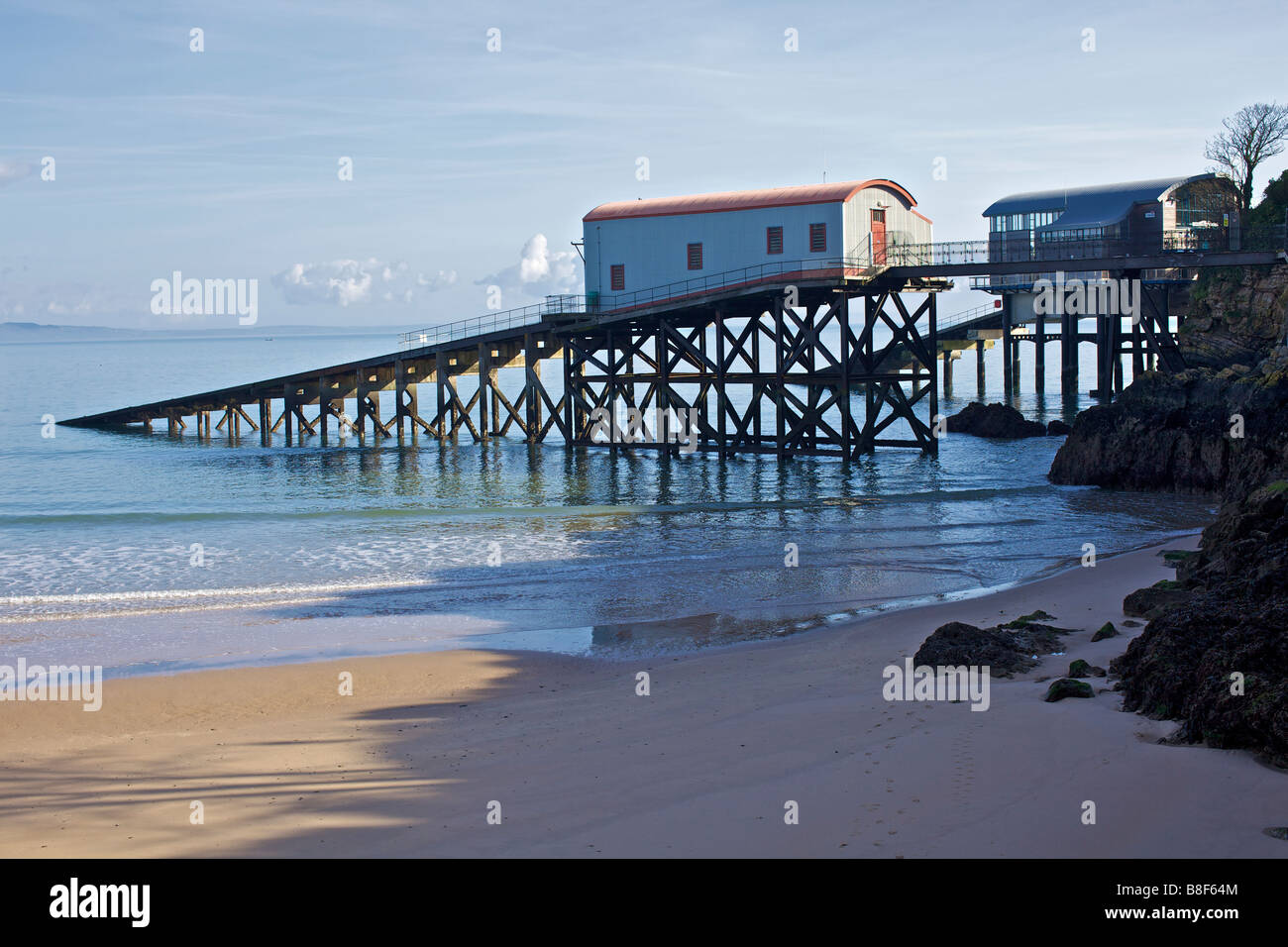 Old Tenby Lifeboat station in Wales - Stock Image