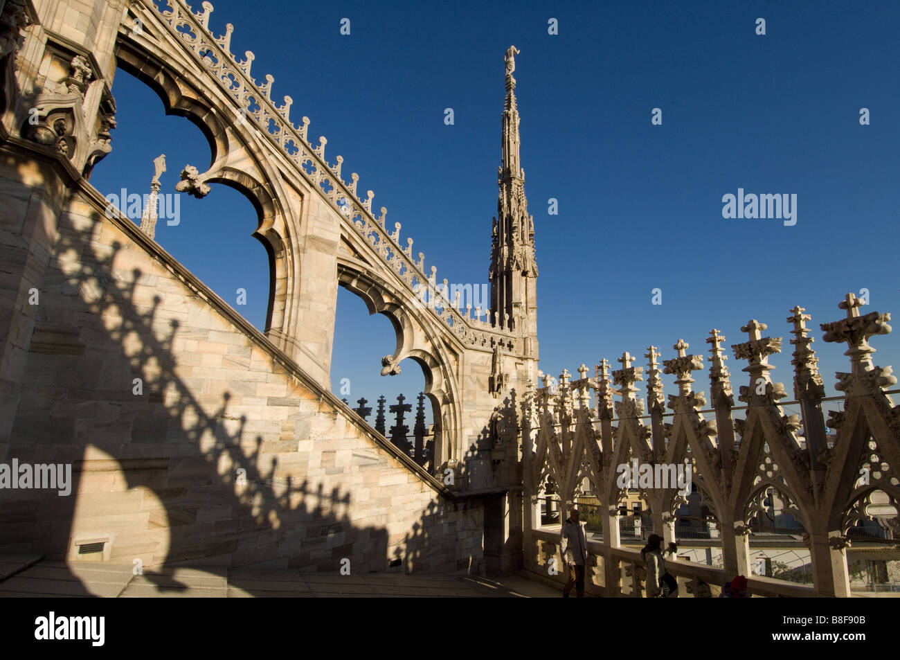 Milan Cathedral Duomo di Santa Maria italy - Stock Image