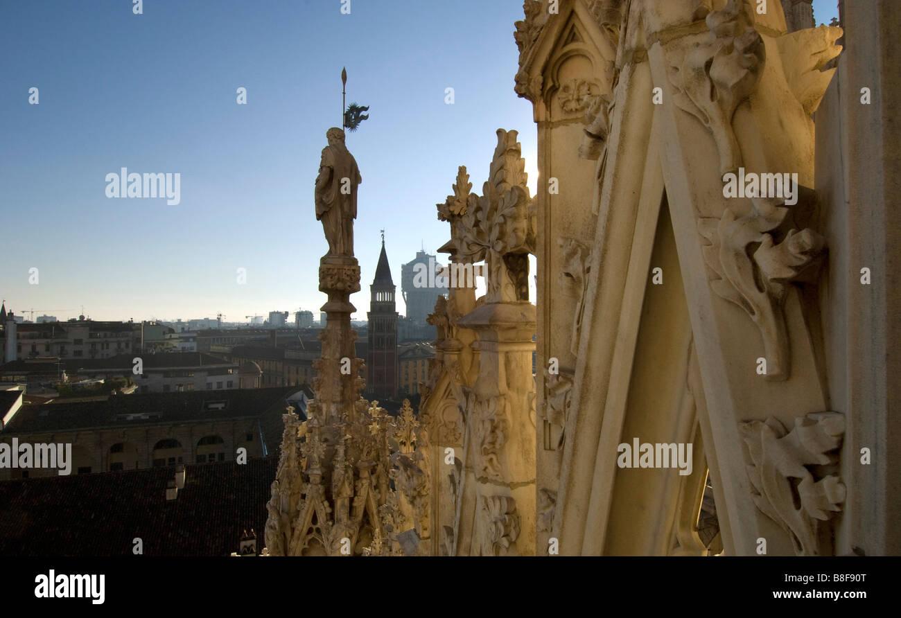 Milan Cathedral Duomo di Santa Maria italy Milan Cathedral is the cathedral church of Milan in Lombardy northern - Stock Image