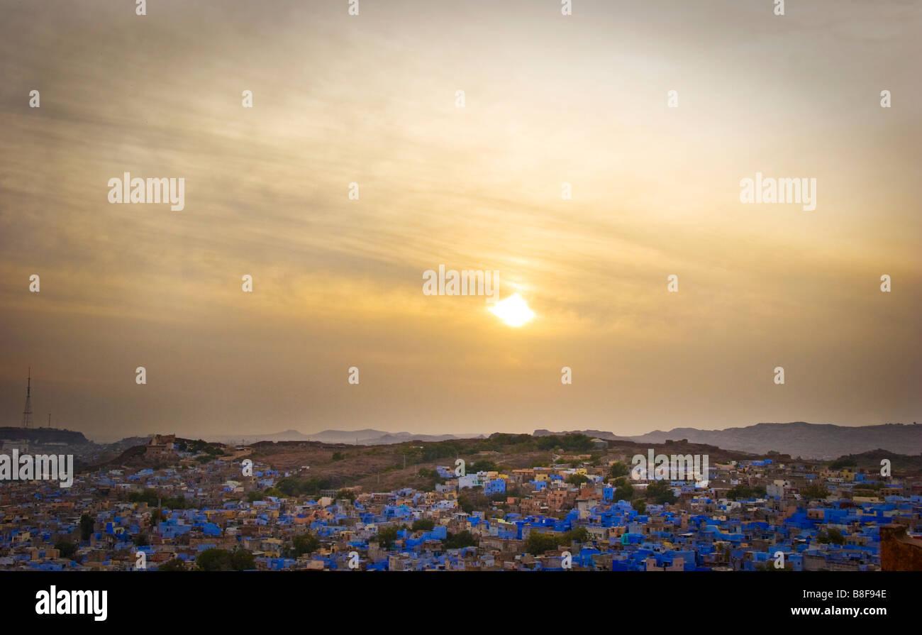 City View Jodhpur Rajasthan India - Stock Image