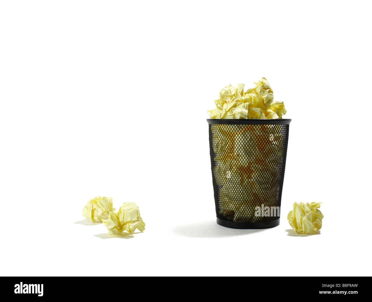 Overflowing Trash Can - Stock Image