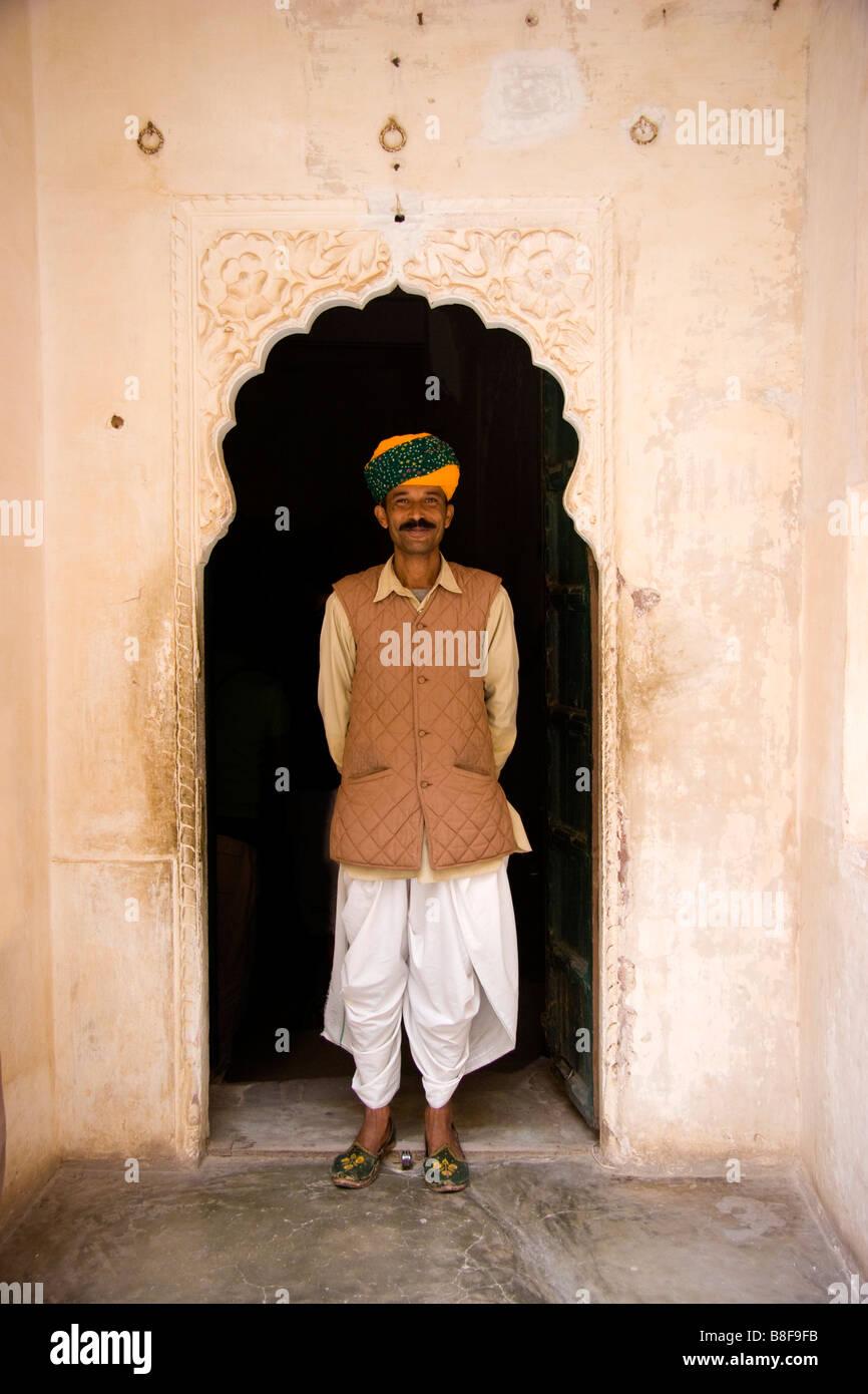 Indian man Jodhpur Rajasthan India - Stock Image