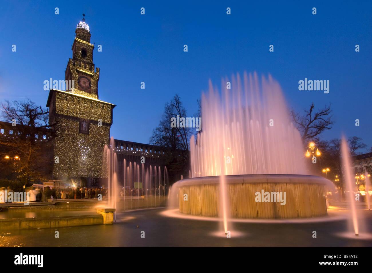 Castello Sforzesco Sforza Castle Milan Milano - Stock Image