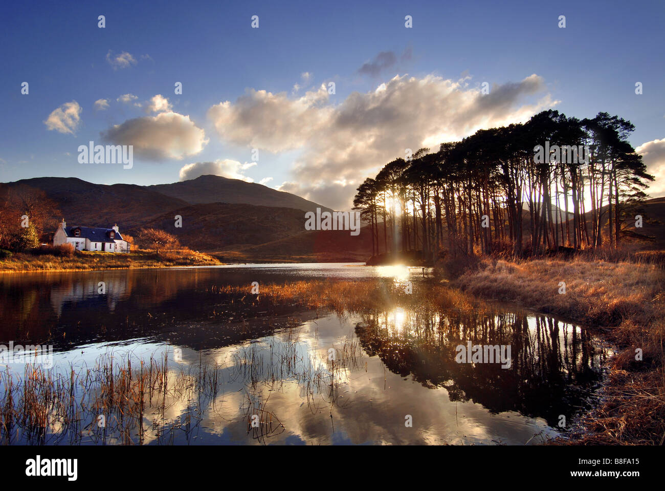 Scotland Loch Eilt West Highland Line Lake - Stock Image