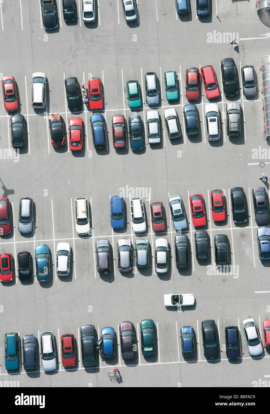 Parking lot, aerial photo - Stock Image