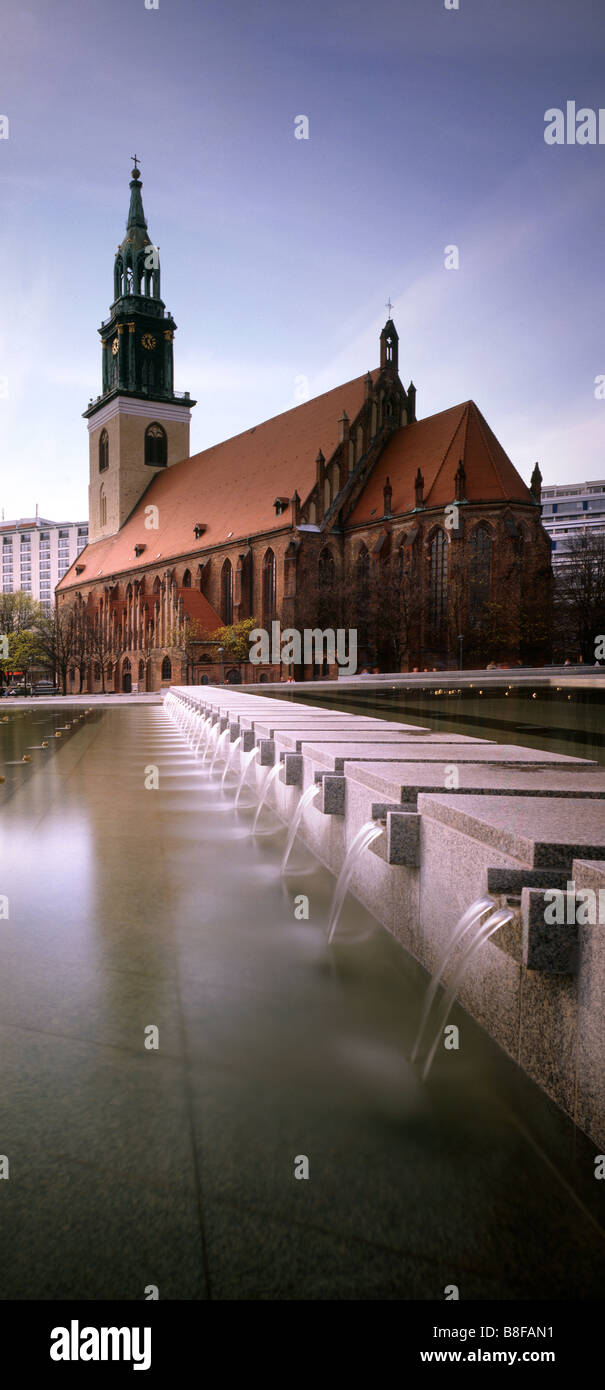 St Mary s Church Berlin  Alexanderplatz germany - Stock Image