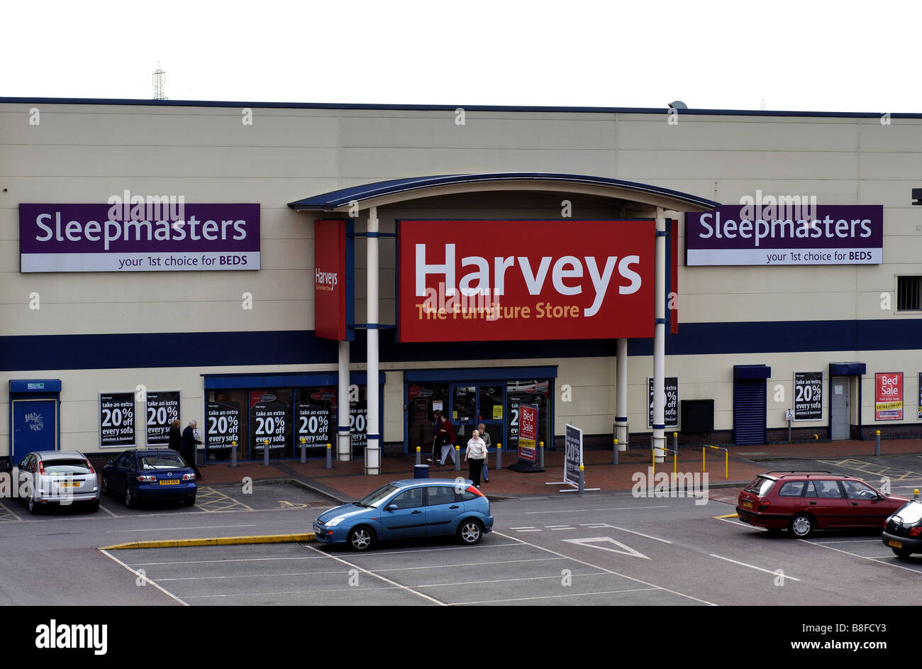 Harveys Furniture Store Erdington Birmingham Uk Stock Photo