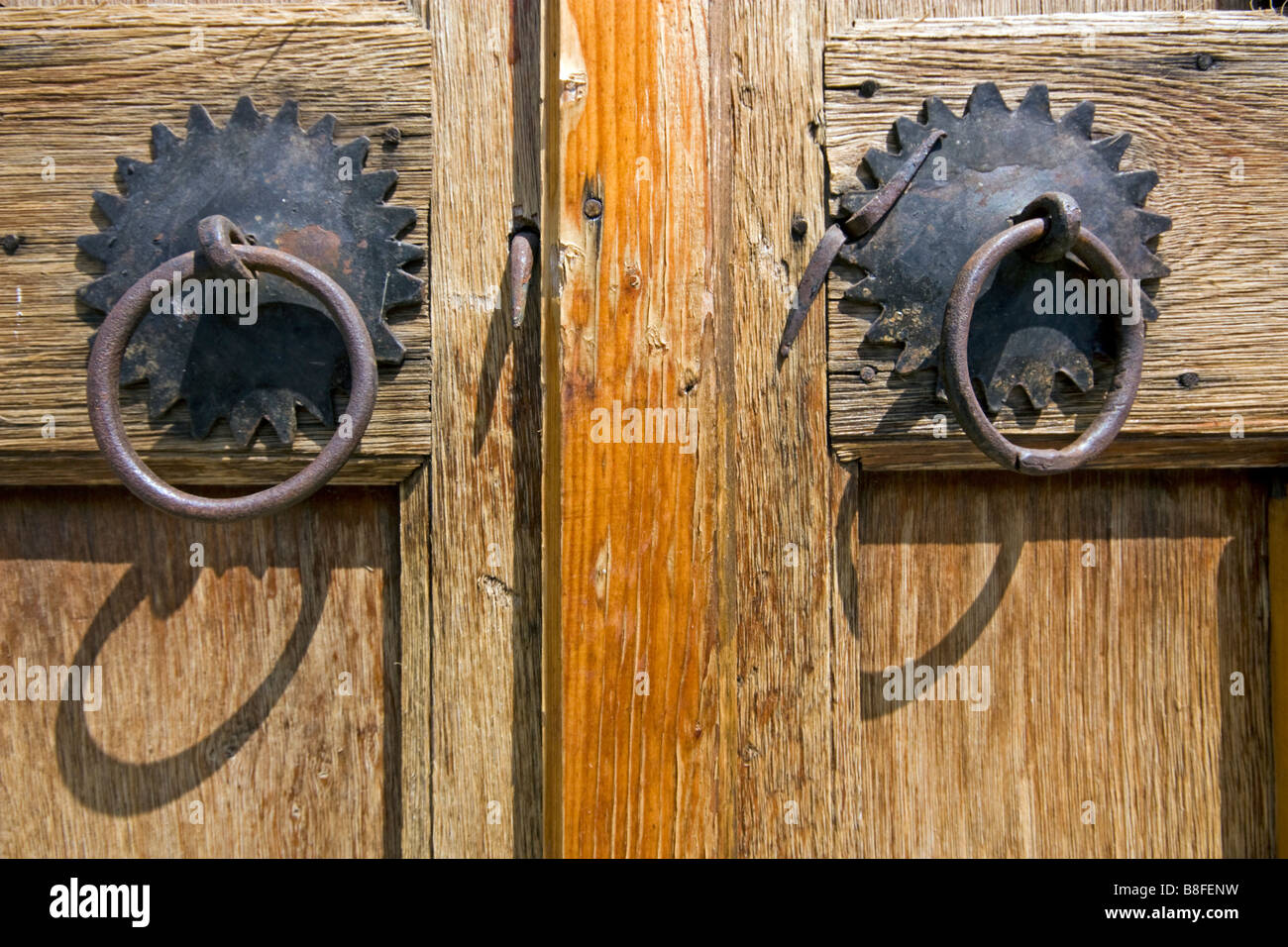 Door handles in Zheravena in Bulgaria - Stock Image