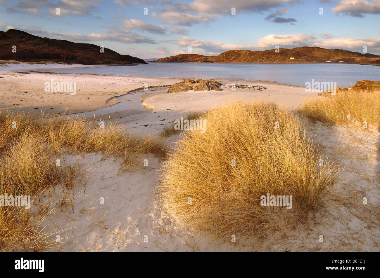 The Silver Sands of Morar Stock Photo