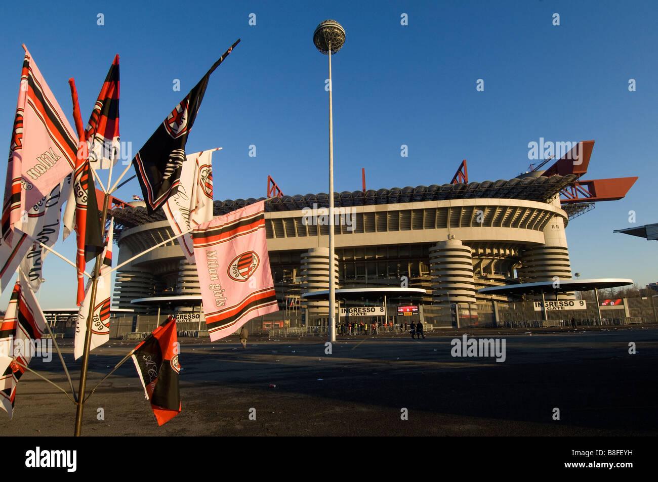 Ac Milan Inter Milan Soccer stadium San Siro Stock Photo