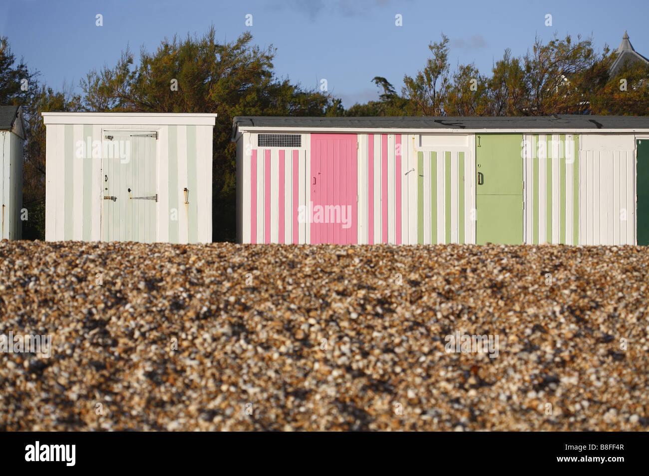 beachhuts - Stock Image
