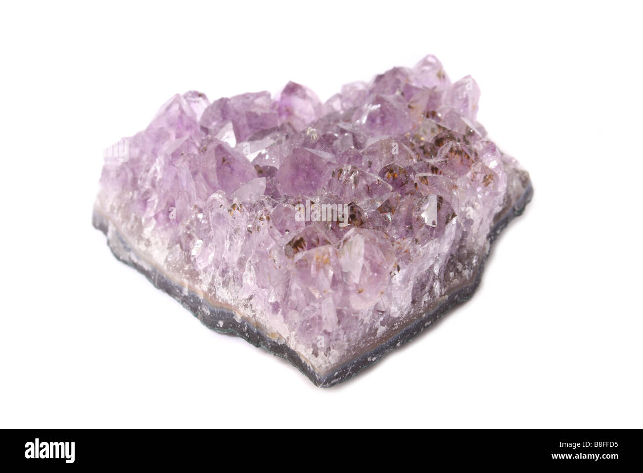 Amethyst crystal - Stock Image