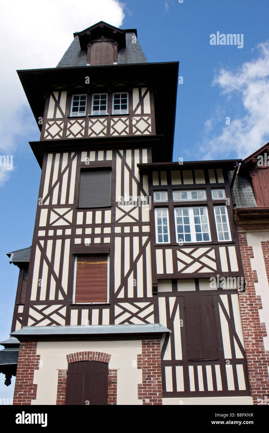 Typical house from Normandy *** Maison typique de Normandie - Stock Image