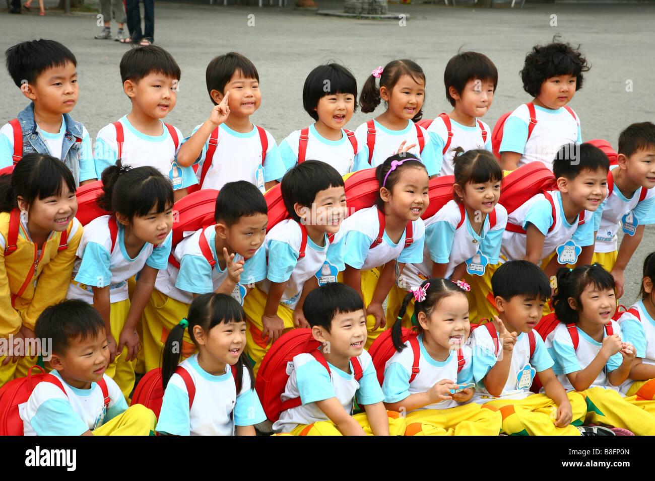 south korea school children stock photos south korea school