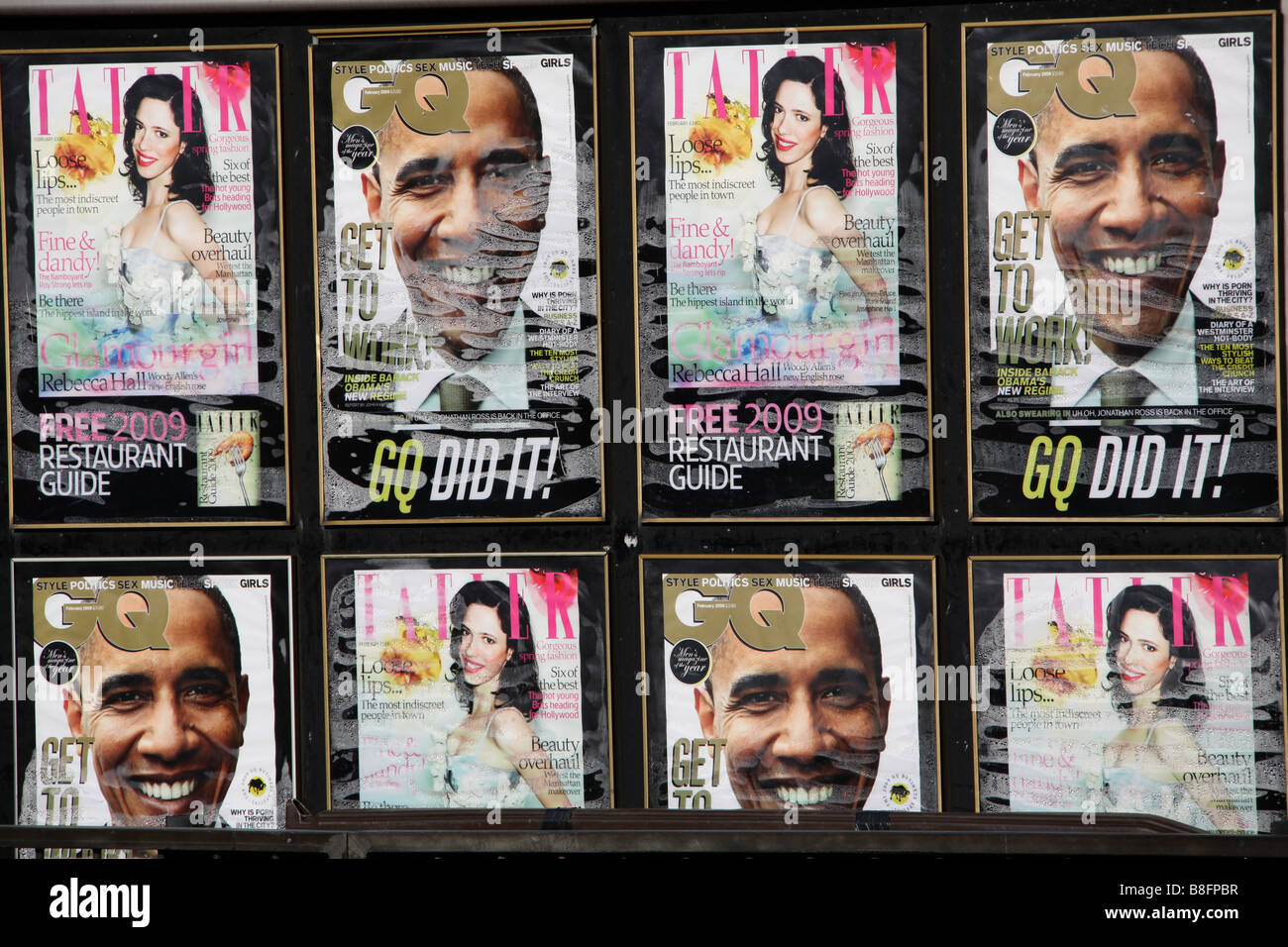 Barack Obama magazine covers - Stock Image