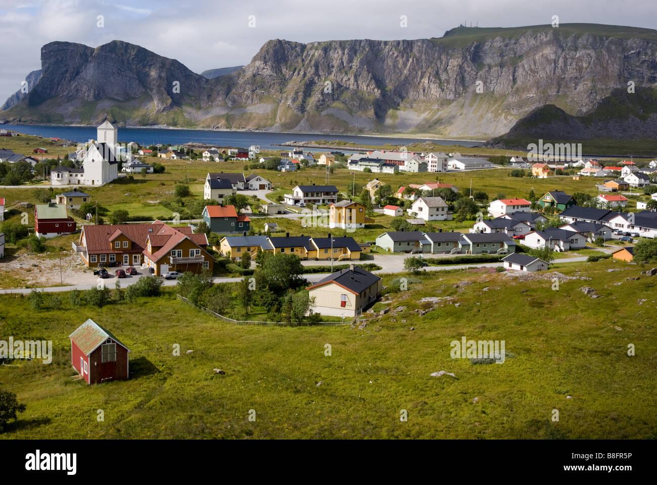 Sørland, Værøy, Lofoten, Nordland, Norway, Scandinavia - Stock Image