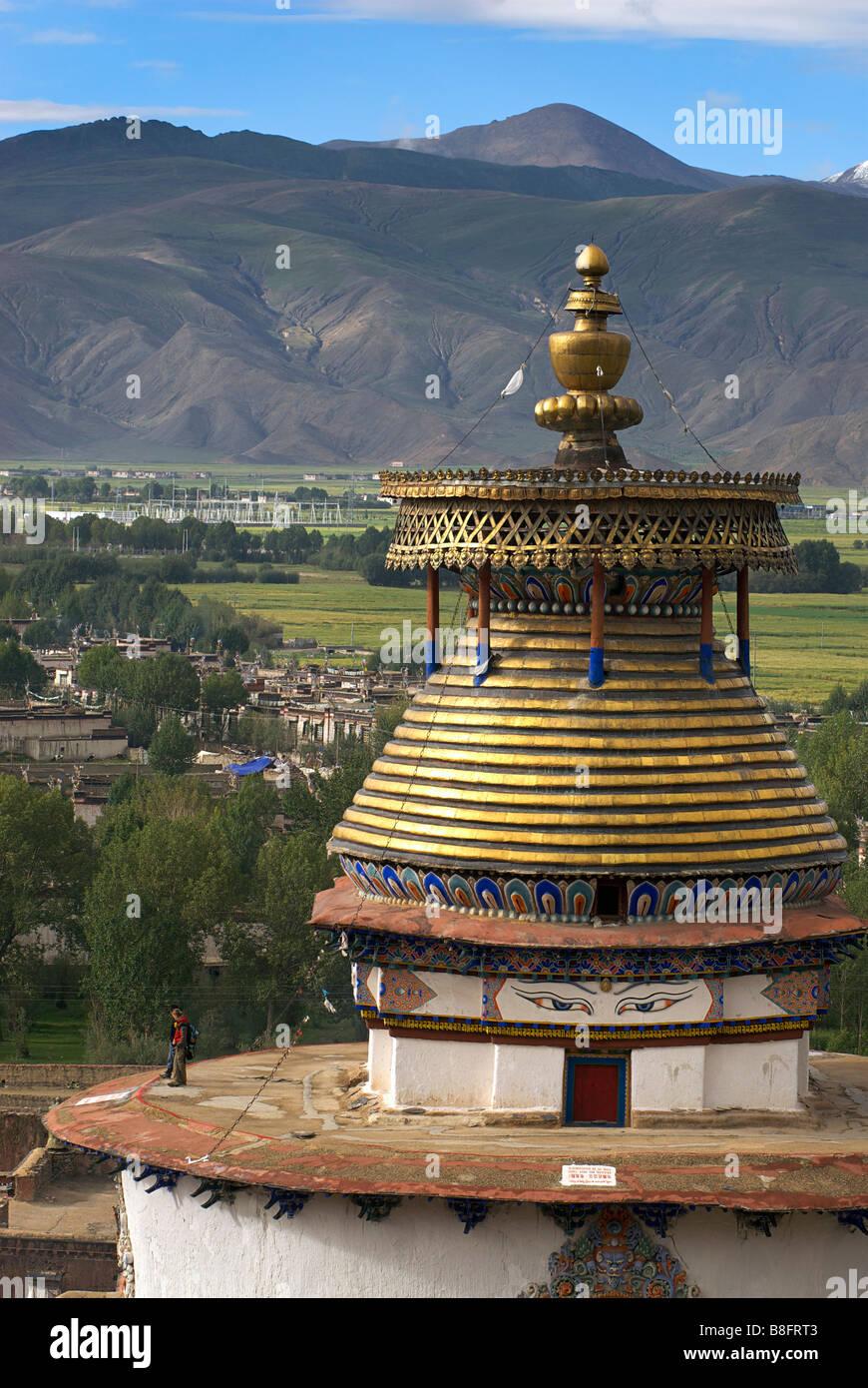 Kumbum Pelkor Chöde monastery, Gyantse, Tibet - Stock Image