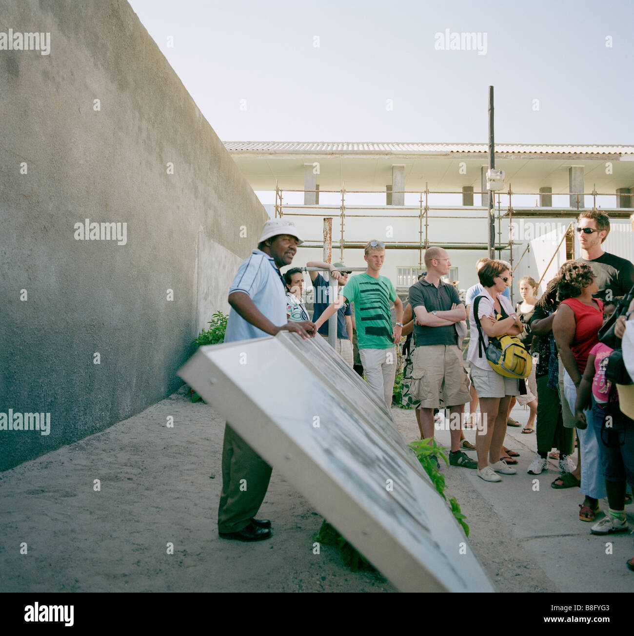 Former prisoner guide at Nelson Mandela prison Robben Island Museum in Cape Town in South Africa in Sub Saharan - Stock Image
