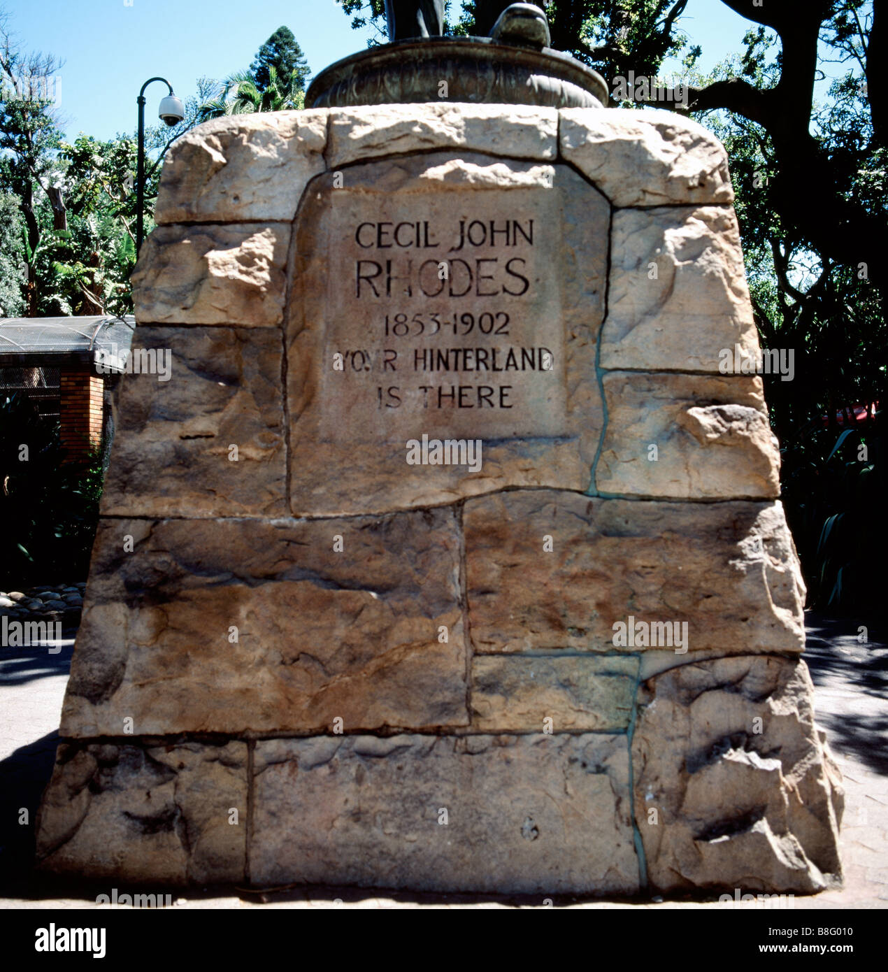 Cecil Rhodes memorial in Company's Gardens in Cape Town in South Africa in Sub Saharan Africa. Apartheid Company - Stock Image