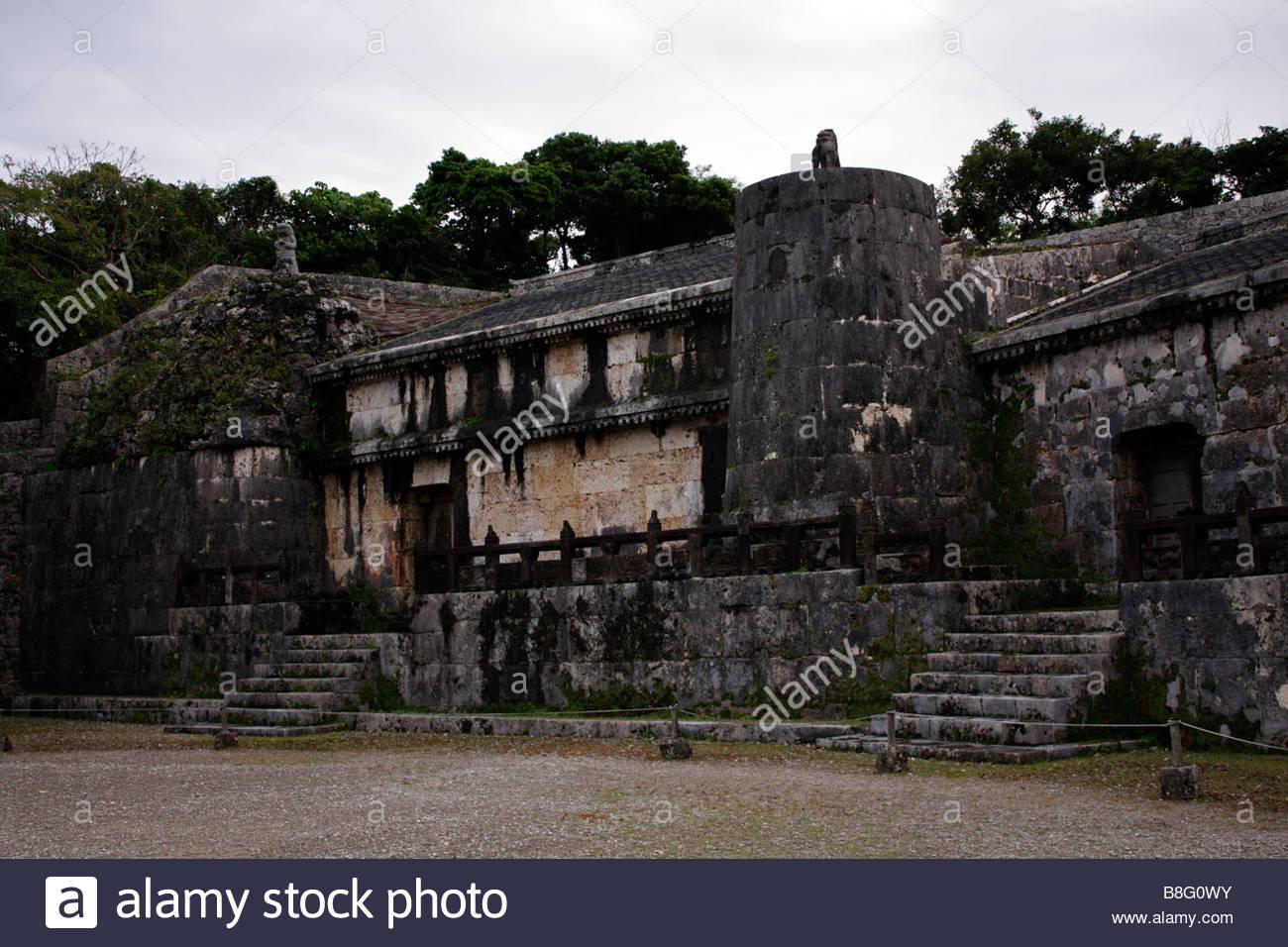 The Royal Mausoleum of the Sho-En dynasty, the Kings of Ryukyu, Okinawa, Japan - Stock Image