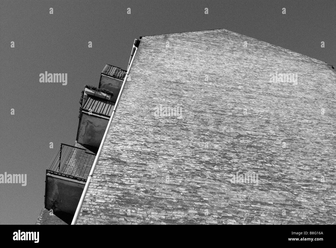 WEATHERED GABLE - Stock Image