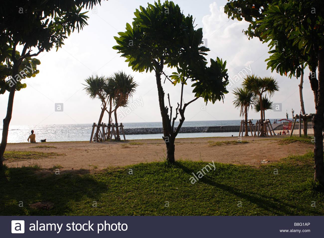 Sunset Beach, Okinawa, Japan - Stock Image