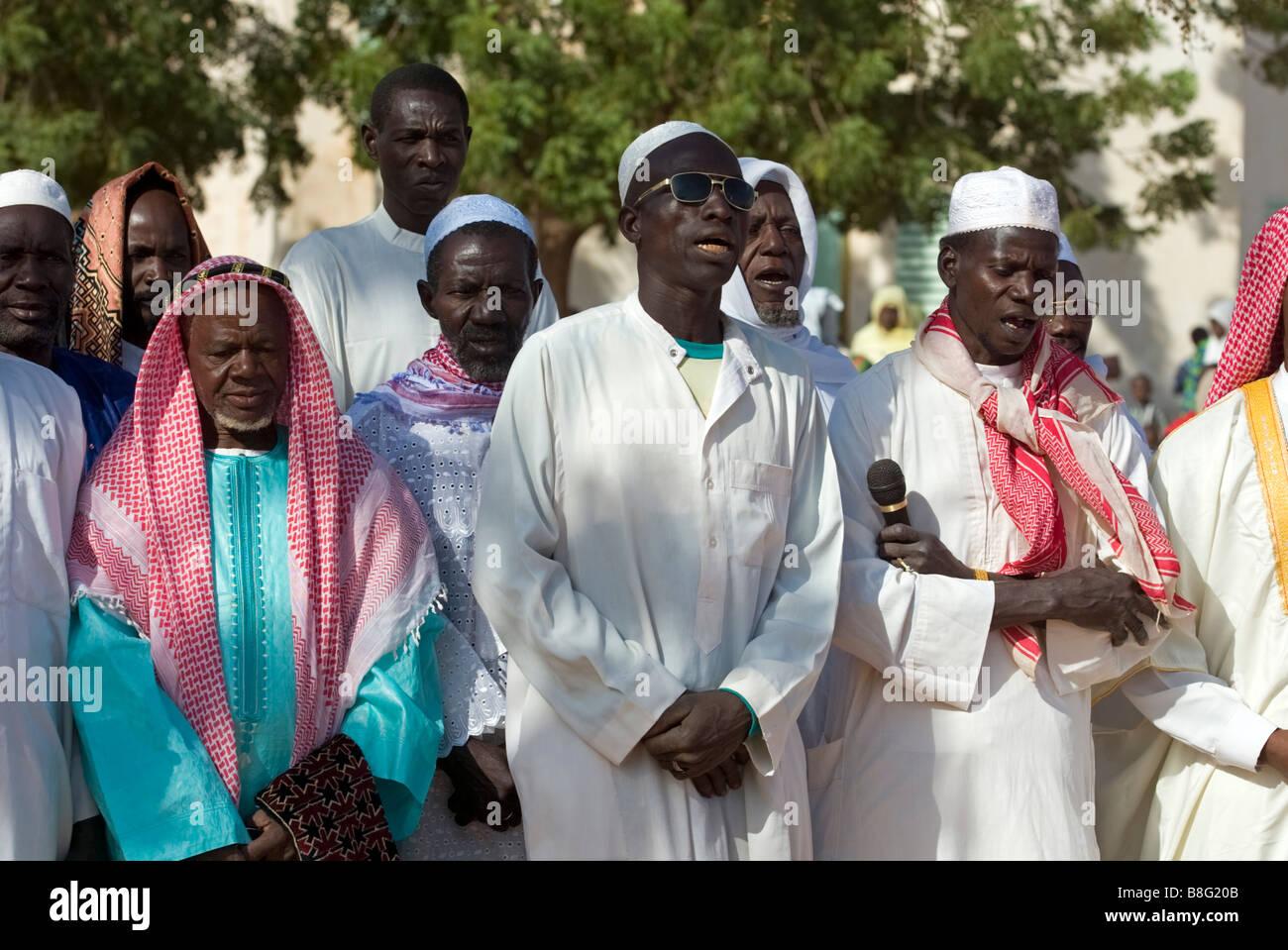 Muslim Africans in a Friday pray Ouagadougou Burkina Faso - Stock Image