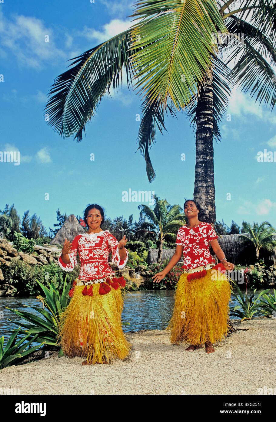 2071 Polynesian Cultural Centre Oahu Hawaii USA - Stock Image